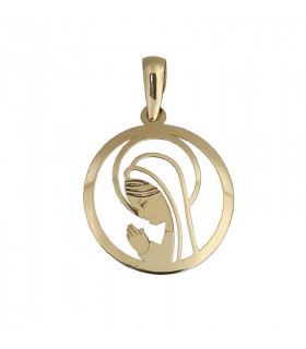Virgin pendant my first communion