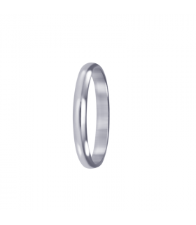 Finite wedding ring white gold.