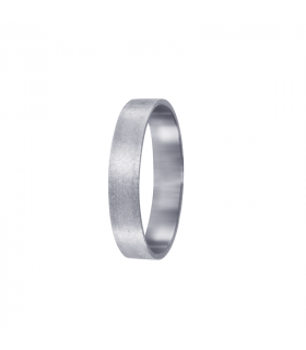 Flat wedding ring white gold.