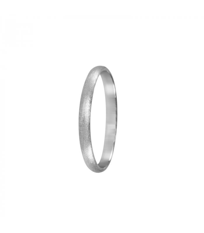 Beautiful wedding ring in white gold