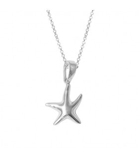 Silver Starfish Choker