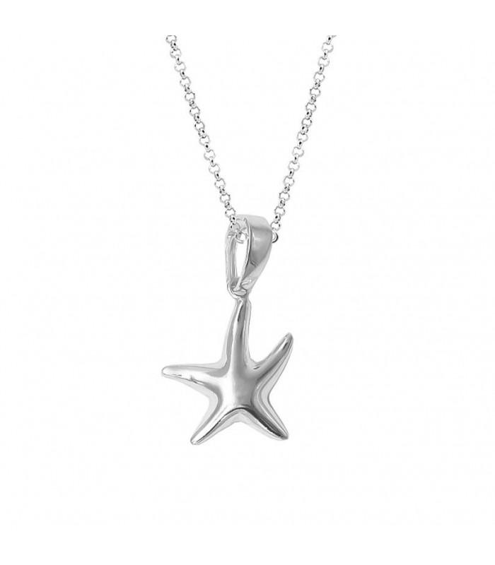Gargantilla plata estrella de mar