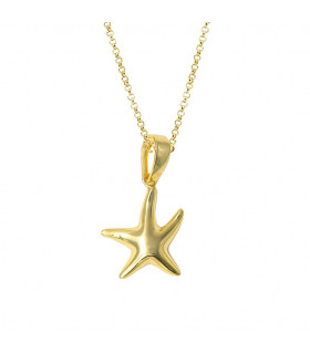 Colgante estrella de mar dorado