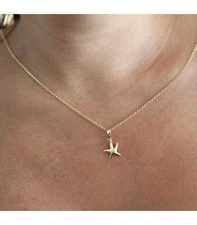 Gargantilla estrella de mar chapado en oro