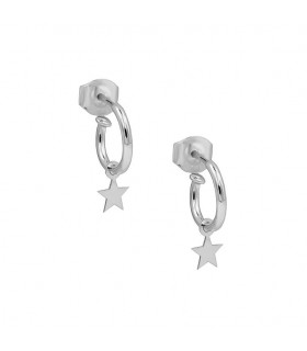 Earrings hoops with stars