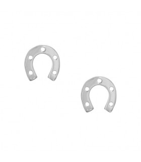 Silver horseshoes earrings