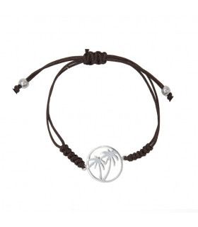 Leather bracelet palm trees