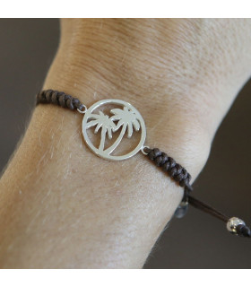 Silver Palm Bracelet