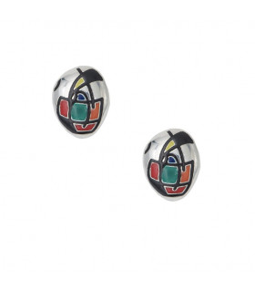 Guernica silver earrings