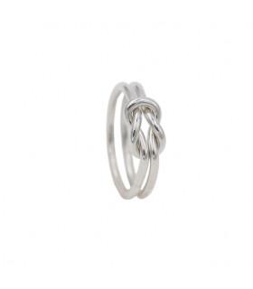 Anillo de nudos de plata