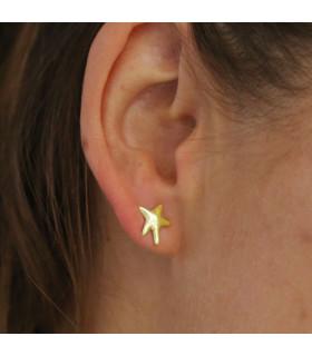 Pendientes estrella de mar dorado