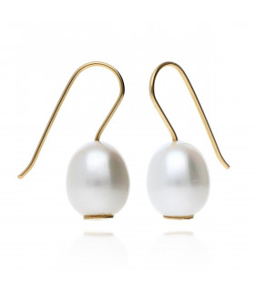 Pearl earrings smooth pendant
