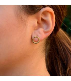Golden hoop earring