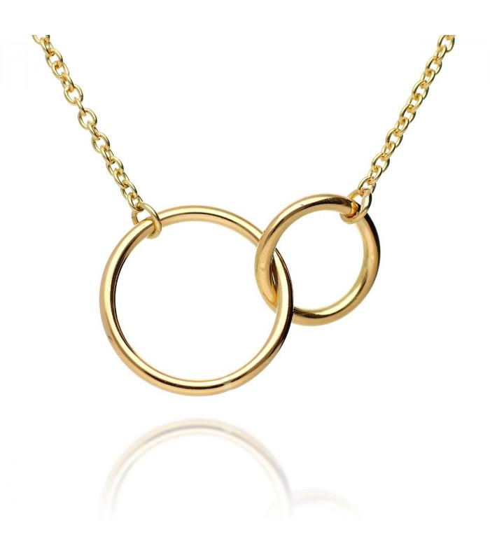 Gold double hoop choker