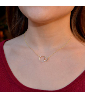 Gold double hoops chokers