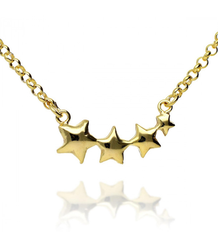 Gargantilla estrella dorada