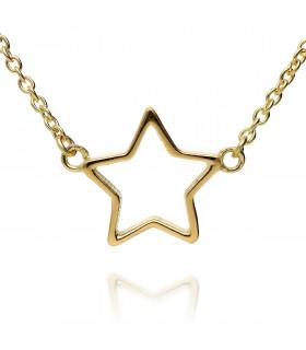 Gargantilla oro estrella