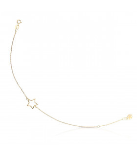 Sterling gold star bracelet
