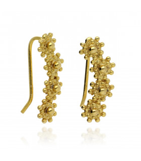 Gold ear earrings