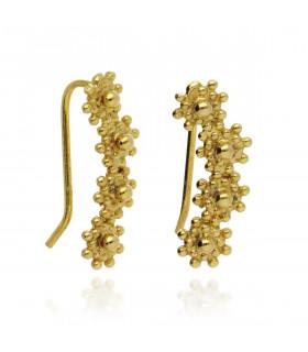Pendientes oreja dorado