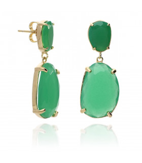Green gold pendant earrings