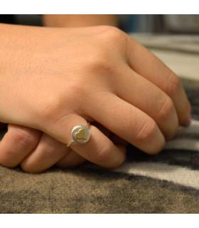 anillo personalizado corazon oro