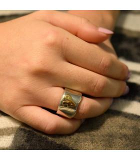 anillo cera inicial oro