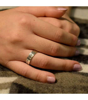 Zirconia custom ring