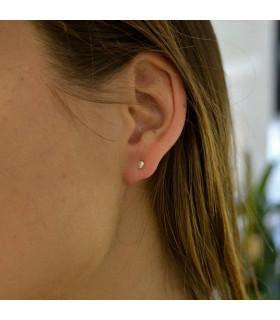 Silver ball baby earring