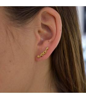 Golden knots climbing earring