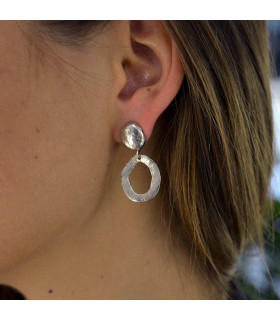 silver earring wax circle