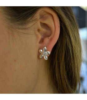 Silver jasmine earrings
