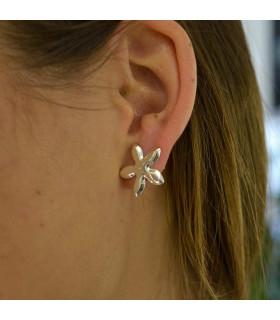 Jasmine flower earring in silver