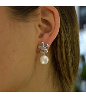 Pearl jasmine silver earring