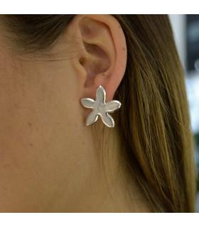 Silver jasmine earrings