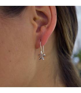 Mini silver jasmine earring