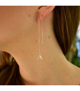 Pendiente triangulo plata