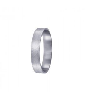 Alliance silver satin flat 3mm