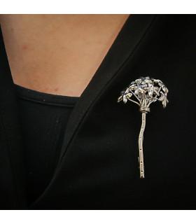 Málaga silver Biznaga brooch