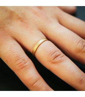 Alianza plana satinada oro 3mm