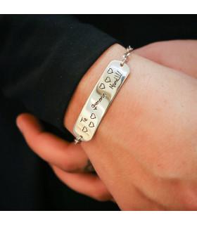 Pulsera de plata personalizada