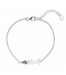 Fishbone bracelet in sterling silver