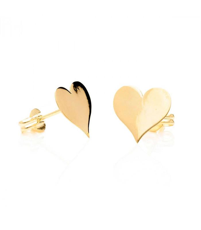 Pendiente corazón de oro