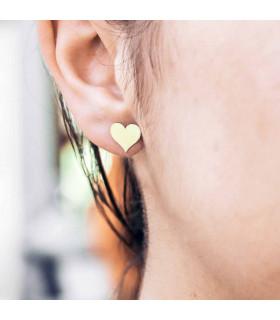 Pendientes de oro corazón