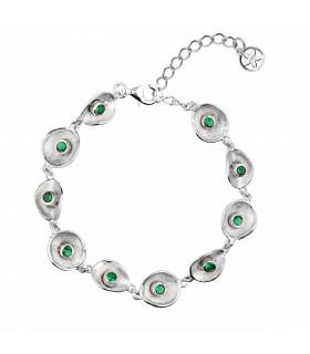 Silver lily bracelet