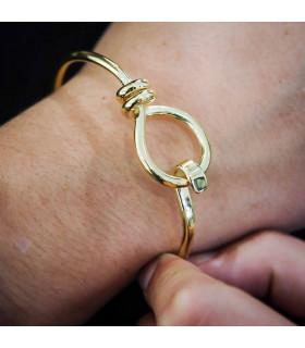 Pulsera nudo círculo dorado