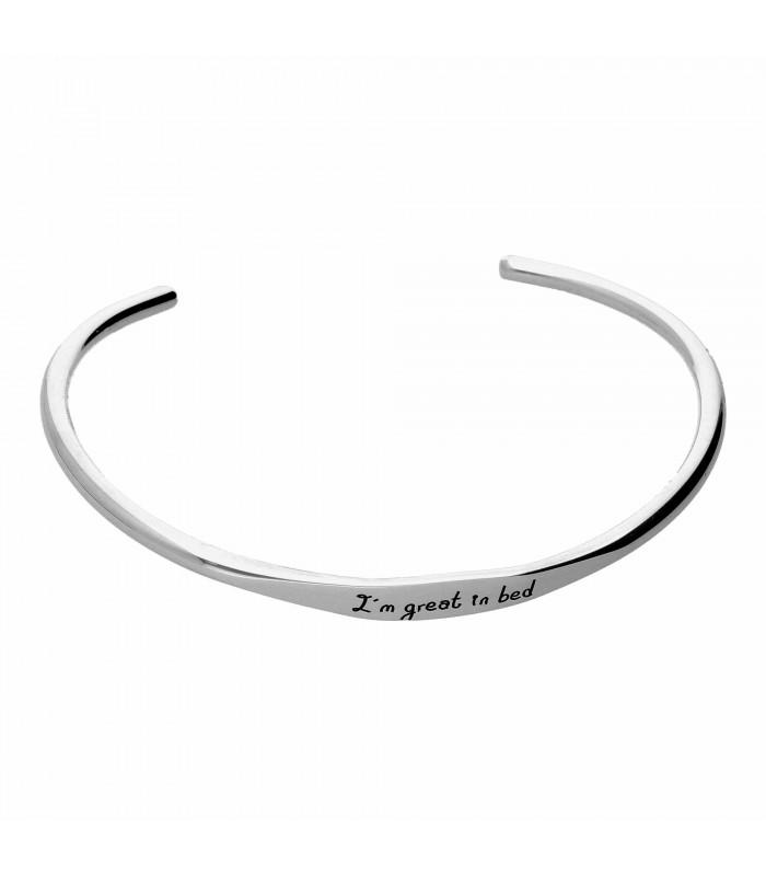 Personalized silver Athens bracelet