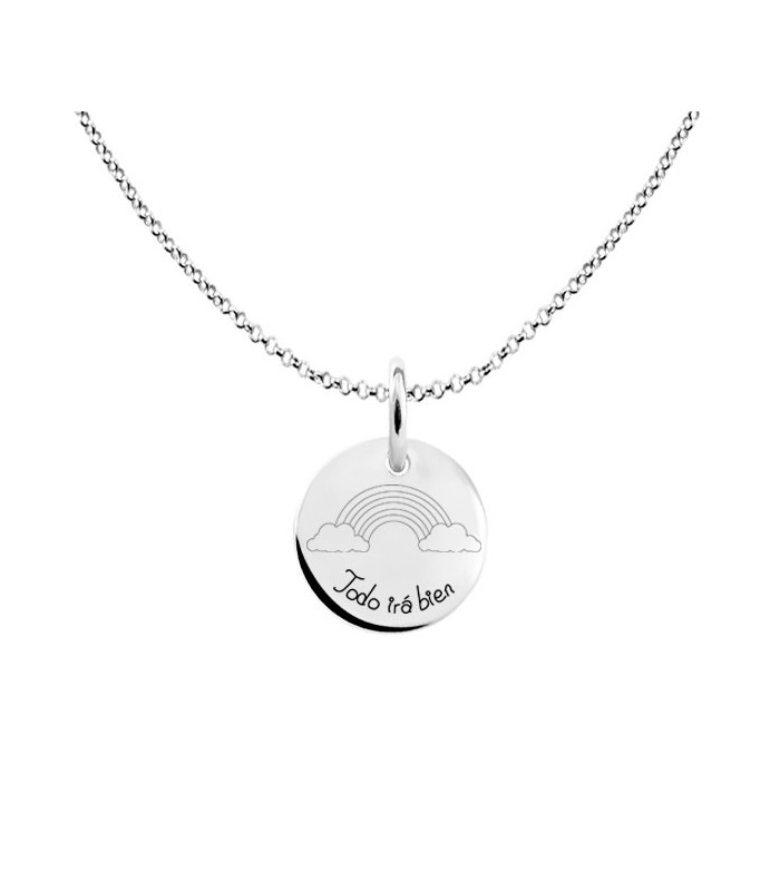 Everything Will Go Good silver chain pendant