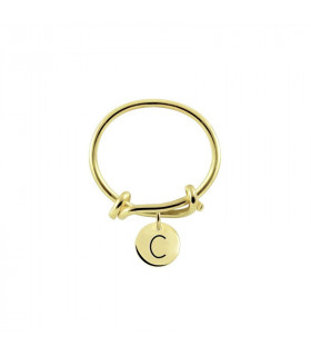 Initial Gold Ring C