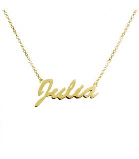 Collar nombre Julia dorado